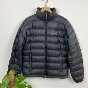Marmot 800 Fill Goose Down Black Puffer Coat